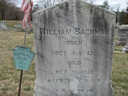 BACHMAN  (CW), WILLIAM - Northampton County, Pennsylvania | WILLIAM BACHMAN  (CW) - Pennsylvania Gravestone Photos