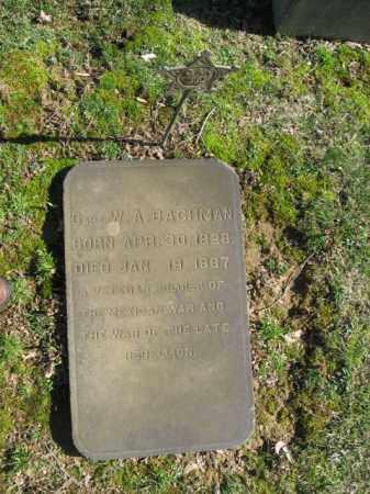 BACHMAN, CAPT. W.A. - Northampton County, Pennsylvania   CAPT. W.A. BACHMAN - Pennsylvania Gravestone Photos