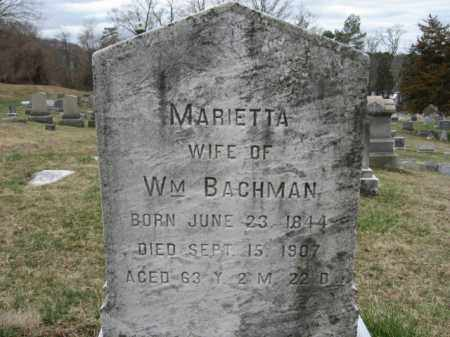 BACHMAN, MARIETTA - Northampton County, Pennsylvania | MARIETTA BACHMAN - Pennsylvania Gravestone Photos