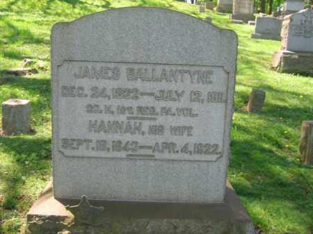 BALLANTYNE, JAMES - Northampton County, Pennsylvania | JAMES BALLANTYNE - Pennsylvania Gravestone Photos