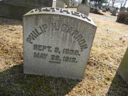 BARRON, PHILIP H. - Northampton County, Pennsylvania   PHILIP H. BARRON - Pennsylvania Gravestone Photos