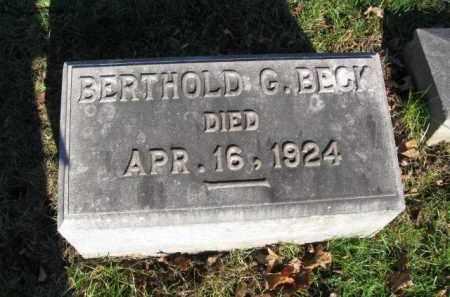BECK, BERTHOLD G. - Northampton County, Pennsylvania   BERTHOLD G. BECK - Pennsylvania Gravestone Photos