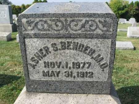 BENDER,M.D., ASHER S. - Northampton County, Pennsylvania | ASHER S. BENDER,M.D. - Pennsylvania Gravestone Photos