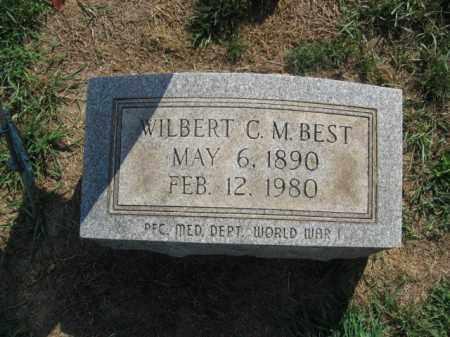 BEST, WILBERT C.M. - Northampton County, Pennsylvania   WILBERT C.M. BEST - Pennsylvania Gravestone Photos