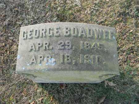 BOADWELL, GEORGE - Northampton County, Pennsylvania | GEORGE BOADWELL - Pennsylvania Gravestone Photos
