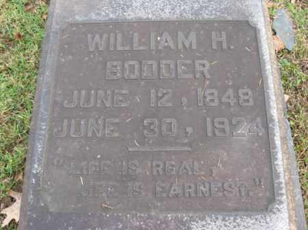 BODDER, WILLIAM H. - Northampton County, Pennsylvania | WILLIAM H. BODDER - Pennsylvania Gravestone Photos