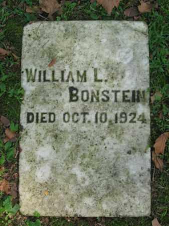 BONSTEIN, WILLIAM L. - Northampton County, Pennsylvania   WILLIAM L. BONSTEIN - Pennsylvania Gravestone Photos