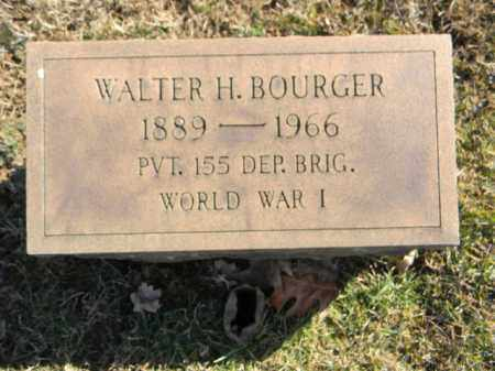 BOURGER (WW I), WALTER H. - Northampton County, Pennsylvania | WALTER H. BOURGER (WW I) - Pennsylvania Gravestone Photos