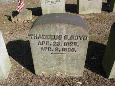 BOYD, THADDEUS S. - Northampton County, Pennsylvania | THADDEUS S. BOYD - Pennsylvania Gravestone Photos