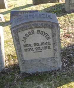 BOYER, JACOB - Northampton County, Pennsylvania   JACOB BOYER - Pennsylvania Gravestone Photos