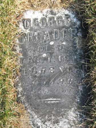 BRADER (BREADER) (CW), GEORGE - Northampton County, Pennsylvania | GEORGE BRADER (BREADER) (CW) - Pennsylvania Gravestone Photos