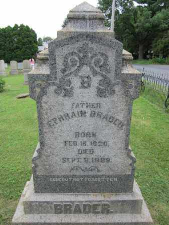BRADER, EPHRAIM - Northampton County, Pennsylvania | EPHRAIM BRADER - Pennsylvania Gravestone Photos