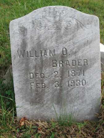 BRADER, WILLIAM O. - Northampton County, Pennsylvania | WILLIAM O. BRADER - Pennsylvania Gravestone Photos