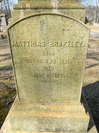 BRAKELEY, MATTHIAS - Northampton County, Pennsylvania   MATTHIAS BRAKELEY - Pennsylvania Gravestone Photos