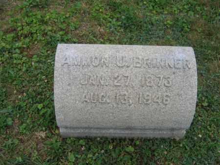 BRINKER, AMMON V. - Northampton County, Pennsylvania | AMMON V. BRINKER - Pennsylvania Gravestone Photos