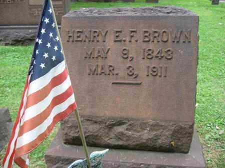 BROWN (CW), HENRY E.F. - Northampton County, Pennsylvania | HENRY E.F. BROWN (CW) - Pennsylvania Gravestone Photos