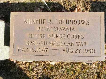 BURROWS (SAW), MINNIE R.J. - Northampton County, Pennsylvania   MINNIE R.J. BURROWS (SAW) - Pennsylvania Gravestone Photos