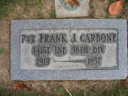 CARBONE, PVT. FRANK J. - Northampton County, Pennsylvania | PVT. FRANK J. CARBONE - Pennsylvania Gravestone Photos
