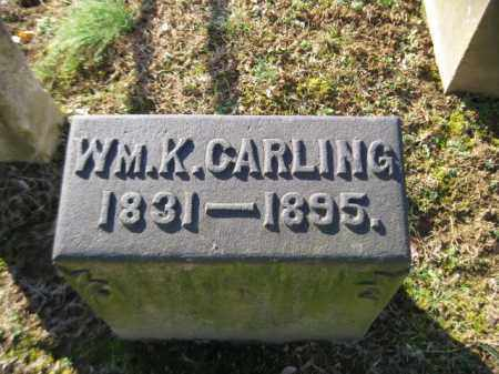 CARLING, WILLIAM K. - Northampton County, Pennsylvania | WILLIAM K. CARLING - Pennsylvania Gravestone Photos