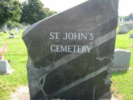 CEMERTY SIGN, ST.JOHN'S - Northampton County, Pennsylvania   ST.JOHN'S CEMERTY SIGN - Pennsylvania Gravestone Photos