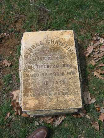 CHRISTINE, GEORGE - Northampton County, Pennsylvania | GEORGE CHRISTINE - Pennsylvania Gravestone Photos