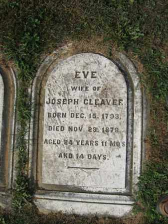 CLEAVER, EVE - Northampton County, Pennsylvania | EVE CLEAVER - Pennsylvania Gravestone Photos