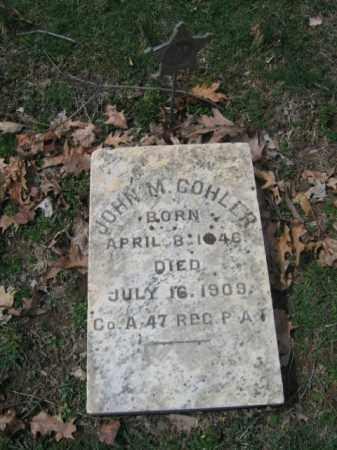 COHLER, JOHN M. - Northampton County, Pennsylvania | JOHN M. COHLER - Pennsylvania Gravestone Photos