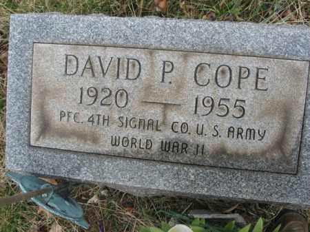 COPE, DAVID P. - Northampton County, Pennsylvania | DAVID P. COPE - Pennsylvania Gravestone Photos