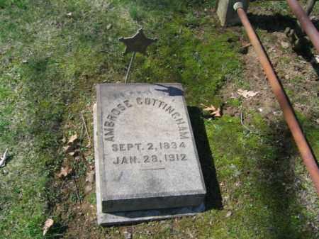 COTTINGHAM, AMBROSE - Northampton County, Pennsylvania | AMBROSE COTTINGHAM - Pennsylvania Gravestone Photos