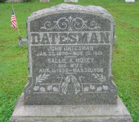 MOREY DATESMAN, SALLIE A. - Northampton County, Pennsylvania | SALLIE A. MOREY DATESMAN - Pennsylvania Gravestone Photos