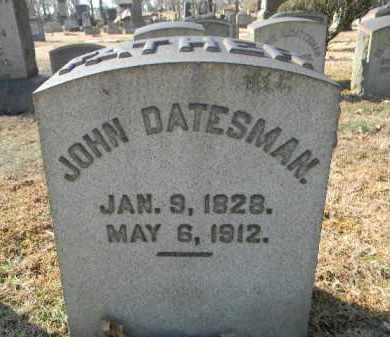 DATESMAN (CW), JOHN - Northampton County, Pennsylvania | JOHN DATESMAN (CW) - Pennsylvania Gravestone Photos