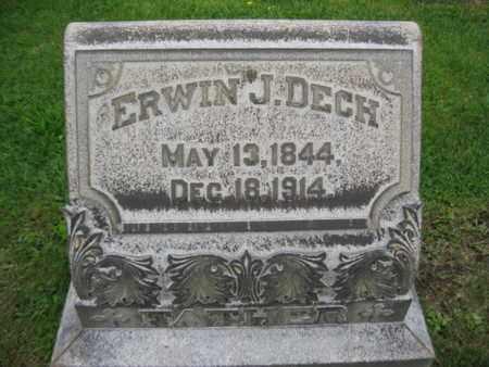 DECH, ERWIN J. - Northampton County, Pennsylvania | ERWIN J. DECH - Pennsylvania Gravestone Photos