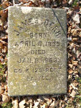 DERR (CW), JAMES - Northampton County, Pennsylvania | JAMES DERR (CW) - Pennsylvania Gravestone Photos