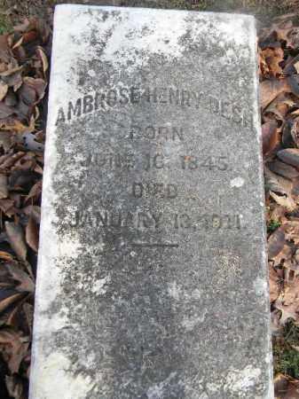DESH (CW), AMBROSE HENRY - Northampton County, Pennsylvania | AMBROSE HENRY DESH (CW) - Pennsylvania Gravestone Photos