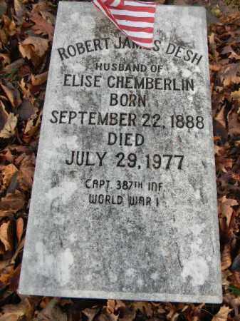 DESH (WW I), ROBERT  JAMES - Northampton County, Pennsylvania | ROBERT  JAMES DESH (WW I) - Pennsylvania Gravestone Photos