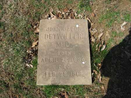 DETWILLER, JOHN JACOB - Northampton County, Pennsylvania   JOHN JACOB DETWILLER - Pennsylvania Gravestone Photos