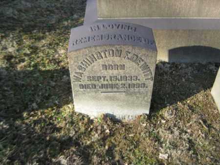 DEWITT, WASHINGTON F. - Northampton County, Pennsylvania | WASHINGTON F. DEWITT - Pennsylvania Gravestone Photos