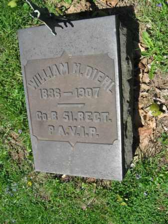DIEHL, WILLIAM H. - Northampton County, Pennsylvania   WILLIAM H. DIEHL - Pennsylvania Gravestone Photos