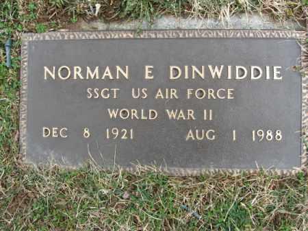 DINWIDDIE, NORMAN E. - Northampton County, Pennsylvania | NORMAN E. DINWIDDIE - Pennsylvania Gravestone Photos