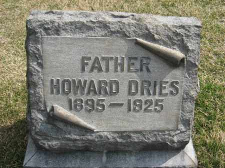 DRIES, HOWARD - Northampton County, Pennsylvania | HOWARD DRIES - Pennsylvania Gravestone Photos