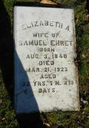 EHRET, ELIZABETH A, - Northampton County, Pennsylvania   ELIZABETH A, EHRET - Pennsylvania Gravestone Photos