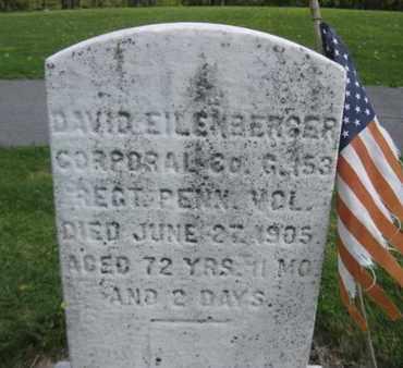 EILENBERGER (CW), DAVID - Northampton County, Pennsylvania   DAVID EILENBERGER (CW) - Pennsylvania Gravestone Photos