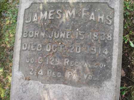 FAHS (CW), JAMES M. - Northampton County, Pennsylvania | JAMES M. FAHS (CW) - Pennsylvania Gravestone Photos