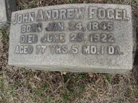 FOGEL, JOHN ANDREW - Northampton County, Pennsylvania | JOHN ANDREW FOGEL - Pennsylvania Gravestone Photos