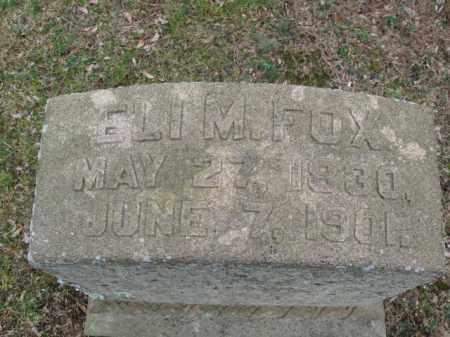 FOX, ELI M. - Northampton County, Pennsylvania | ELI M. FOX - Pennsylvania Gravestone Photos