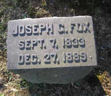 FOX, JOSEPH G. - Northampton County, Pennsylvania   JOSEPH G. FOX - Pennsylvania Gravestone Photos