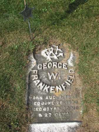 FRANKENFIELD (CW), GEORGE W. - Northampton County, Pennsylvania | GEORGE W. FRANKENFIELD (CW) - Pennsylvania Gravestone Photos
