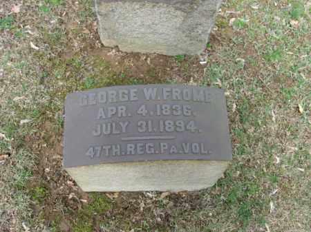 FROME, GEORGE W. - Northampton County, Pennsylvania | GEORGE W. FROME - Pennsylvania Gravestone Photos