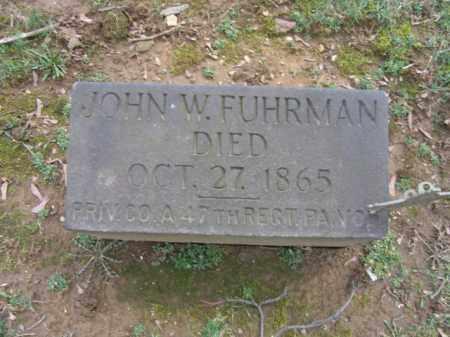 FUHRMAN, PVT. JOHN W. - Northampton County, Pennsylvania | PVT. JOHN W. FUHRMAN - Pennsylvania Gravestone Photos