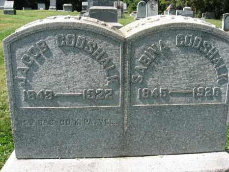 GODSHALK (CW), CORP. JACOB - Northampton County, Pennsylvania | CORP. JACOB GODSHALK (CW) - Pennsylvania Gravestone Photos